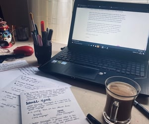 coffee, desk, and language image