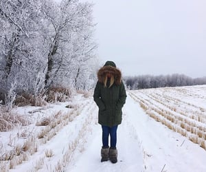 canada, girl, and winter image