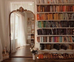 aesthetic, books, and house image