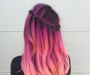 beauty, braiding, and colorful image