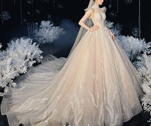 bridal, sleeveless wedding dress, and bridal gown image