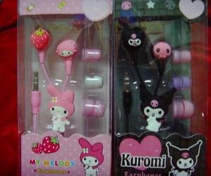 kawaii, kuromi, and my melody image