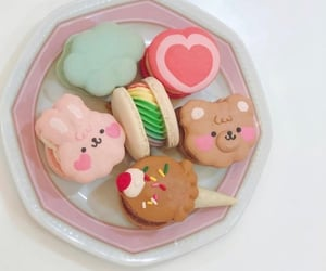 bear, bunny, and desserts image