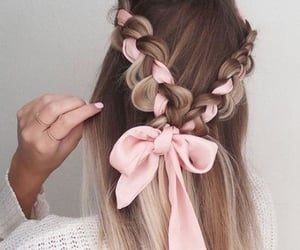 bow, girls, and hair image