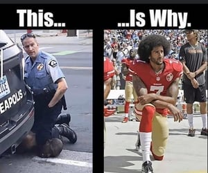 stop racism, colin kaepernick, and black lives matter image