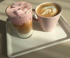 coffee, strawberry, and food image