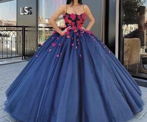 sweet 16, elegant prom dresses, and navy blue prom dress image