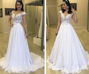 vestido de novia, white wedding dresses, and robe de marriage image