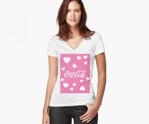 coca cola, pink hearts, and fizzy drinks image