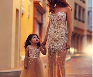 formal dress, beaded evening dress, and kids prom dress image