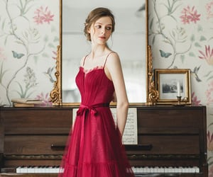 red dress, rouge, and eveningdress image