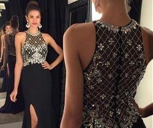 black evening dress, mermaid evening dress, and vestido de longo image