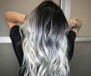 color hair, fashion hair, and grey hair image