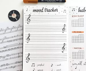journal, music, and stationery image