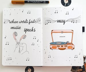 illustration, journal, and music image