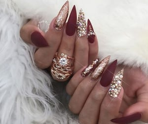 accessories, nail jewelry, and nail art image