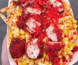 Chicken, corn, and food image