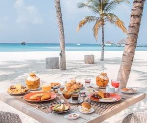 beach, food, and theme image