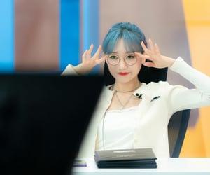 blue, maknae, and blue hair image