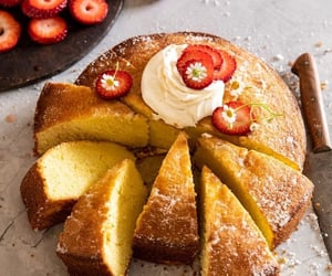 fruit, cake, and delicious image