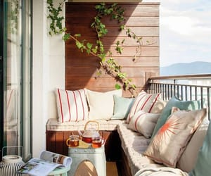 balcony, chilling, and outdoor living image