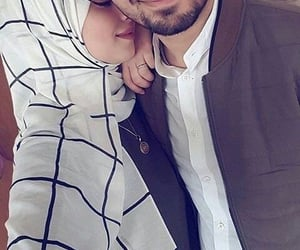 allah, couple, and islam image
