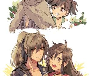 anime, ship, and smiles image