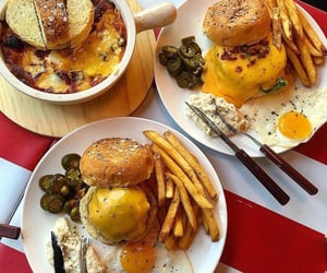 bread, burger, and cheese image