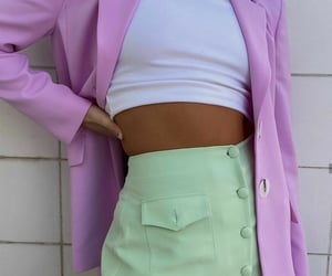 fashion, lilac, and mint green image