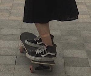 black, skate, and skateboard image