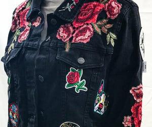 biker jacket, denimjacket, and dayofthedead image