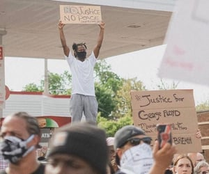 justice, police brutality, and blm image