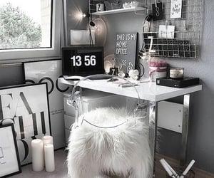 design, grey, and desk image