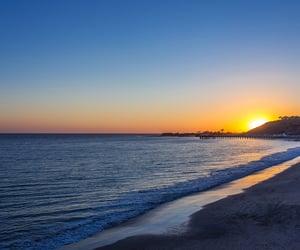 Aloha, palm trees, and sunrise image