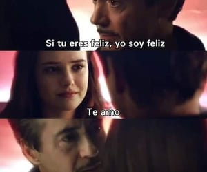 amor, frases, and iron man image