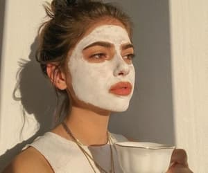 girl, tea, and beauty image