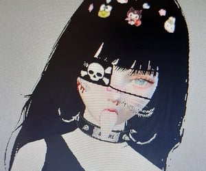 cyber, girl, and icons image