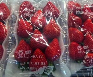 fruit, strawberry, and japan image
