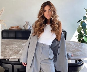 beautiful girl, chic, and clothes image