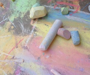 aesthetic, chalk, and pastel image