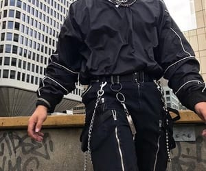 aesthetic, black, and chains image