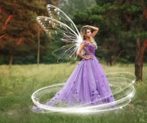 dress, flowers, and magical image