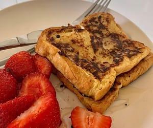 breakfast, food, and strawberries image
