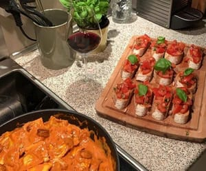 bread, homemade food, and bruschetta image