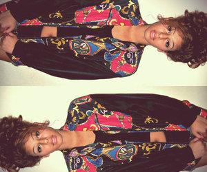 bun, fashion, and jacket image