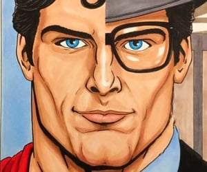 art, clark kent, and superhero image