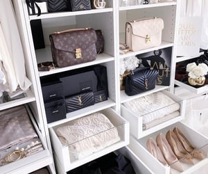 bag, wardrobes, and closet image