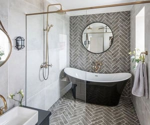 bath room, bathroom, and decor image