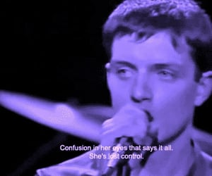 joy division, ian curtis, and she's lost control image
