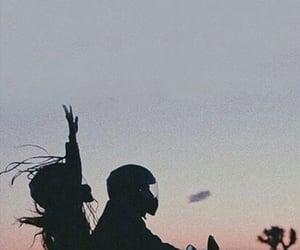 couple, ariana grande, and sunset image